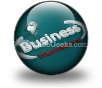 Business International PowerPoint Icon C