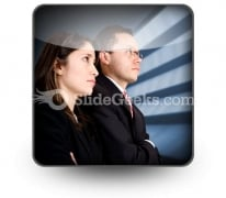 Business Partners PowerPoint Icon S
