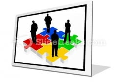 Business Team PowerPoint Icon F