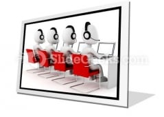 Call Center PowerPoint Icon F
