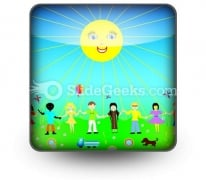 Children Poster PowerPoint Icon S