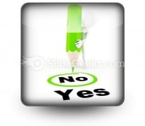 Choose Between Yes And No PowerPoint Icon S