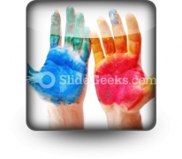 Color Hands PowerPoint Icon S