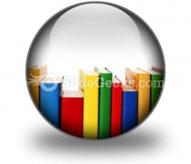 Colorful Books In Row Ppt Icon For Ppt Templates And Slides C