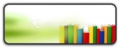 Colorful Books In Row Ppt Icon For Ppt Templates And Slides R
