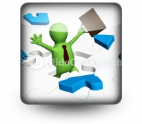 Conceptual Success PowerPoint Icon S