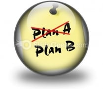 Crossing Out Plan A PowerPoint Icon C