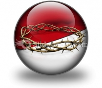 Crown Of Thorns Ppt Icon For Ppt Templates And Slides C