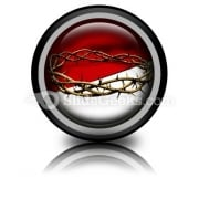 Crown Of Thorns Ppt Icon For Ppt Templates And Slides Cc