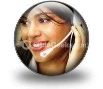 Customer Service Operator PowerPoint Icon C