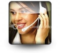 Customer Service Operator PowerPoint Icon S