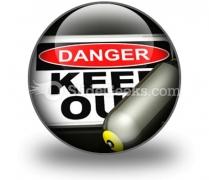 Dangerous Area PowerPoint Icon C