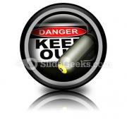 Dangerous Area PowerPoint Icon Cc