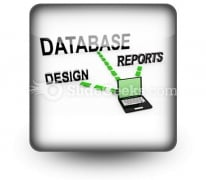 Database System PowerPoint Icon S
