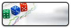Dices On Financial Graph PowerPoint Icon R