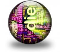Diet Word PowerPoint Icon C