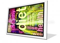 Diet Word PowerPoint Icon F