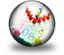 Direction To Jobs PowerPoint Icon C