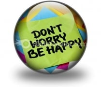 Do Not Worry Be Happy PowerPoint Icon C