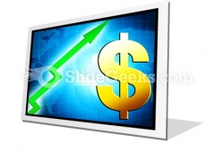 Dollar Increasing Value PowerPoint Icon F