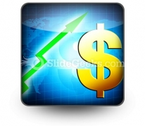 Dollar Increasing Value PowerPoint Icon S