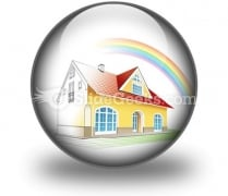 Dream Home Coming True PowerPoint Icon C