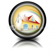 Dream Home Coming True PowerPoint Icon Cc
