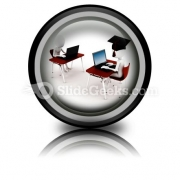 E-learning PowerPoint Icon Cc