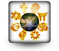 Earth Religious Symbols PowerPoint Icon S