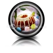 Easter Cake PowerPoint Icon Cc
