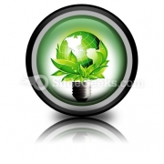 Eco Concept PowerPoint Icon Cc