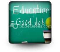 Education Equals Good Job PowerPoint Icon S