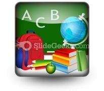 Education PowerPoint Icon S