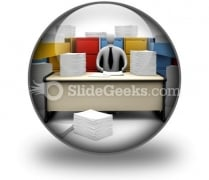 Endless Paper Work PowerPoint Icon C