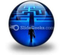 Entering The Labyrinth Ppt Icon For Ppt Templates And Slides C