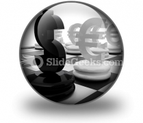 Euro And Dollar PowerPoint Icon C