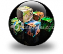 Finance Cubes PowerPoint Icon C