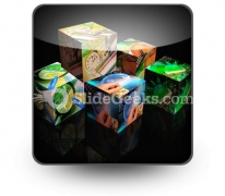 Finance Cubes PowerPoint Icon S