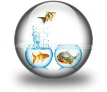 Fish Runs Away PowerPoint Icon C