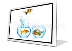 Fish Runs Away PowerPoint Icon F