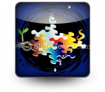 Four Elements Of Nature PowerPoint Icon S