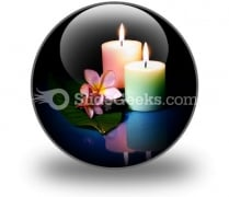 Frangipane Flower With Couple PowerPoint Icon C