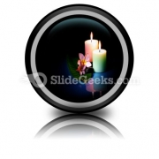 Frangipane Flower With Couple PowerPoint Icon Cc