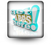 Get Apps Here PowerPoint Icon S