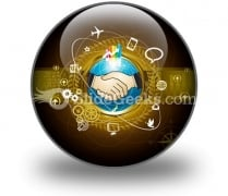 Global Business PowerPoint Icon C