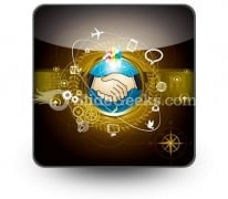 Global Business PowerPoint Icon S