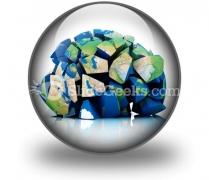 Global Destruction PowerPoint Icon C