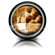 Gold And Old Coins PowerPoint Icon Cc