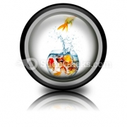 Gold Fish PowerPoint Icon Cc