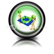 Green Construction Building PowerPoint Icon Cc
